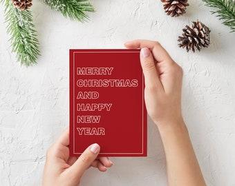 A5 Printable Helvetica Christmas card