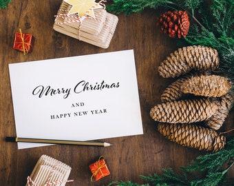 Minimal digital Christmas card