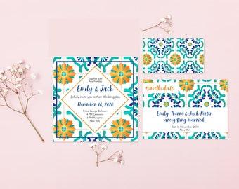 Amalfi tiles wedding kit