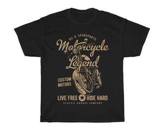 Live Ride T Shirt Motard Homme Moto Gang Rider Free Style Funny S-3XL vélo