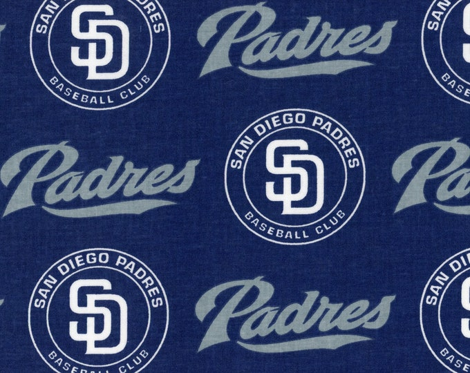 San Diego Padres Fabric Baseball MLB -100% Cotton-By Fabric Traditions-Quilts-Home Decor-Licensed Fabric