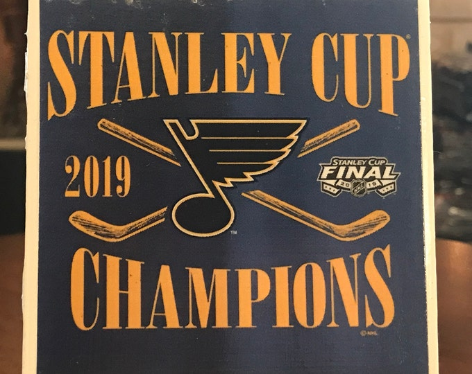 St. Louis Blues Coaster/ Art/ 2019 Hockey Sports Fan/ Gloria/ Let's Go Blues/ Coaster Tile Set/ Blue Note Fan/ NHL