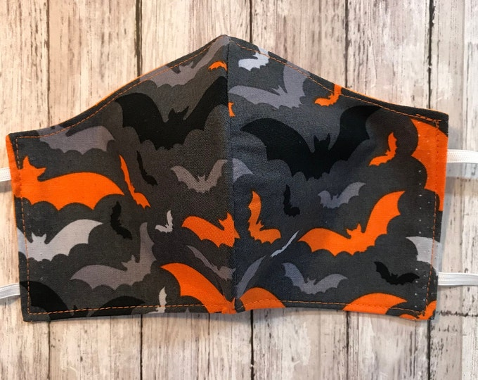 Face Masks, Halloween Whimsical,  Reusable Dust Mask, Pollen Mask, Cloth Face Cover, Reversible Face Cover, Fall, Holiday Prints