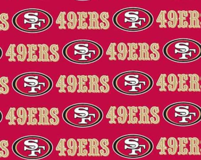 San Francisco 49ers NFL Football -100% Cotton-Quilts-Home Decor-Licensed Fabric