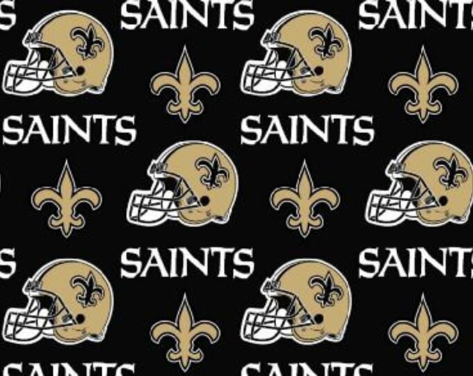 New Orleans Saints Fabric Football NFL -100% Cotton-By Fabric Traditions-Quilts-Home Decor-Licensed Fabric