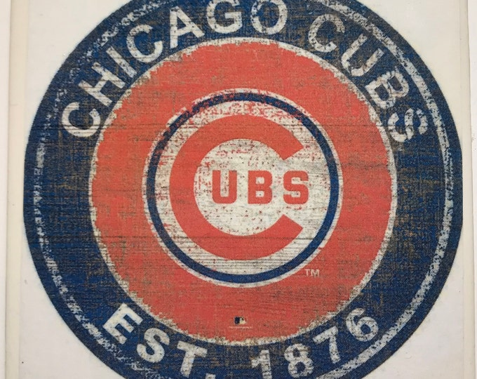 Chicago Cubs Coaster/Art/Cubbie Fan Gift/MLB Baseball