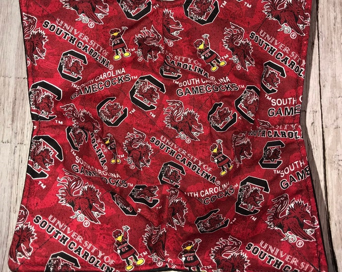 Microwave Bowl Cozy, University of South Carolina Gamecocks, hot pad, Quilted, pot holder, Soup Bowl, Ice Cream Bowl, Plate Cozy