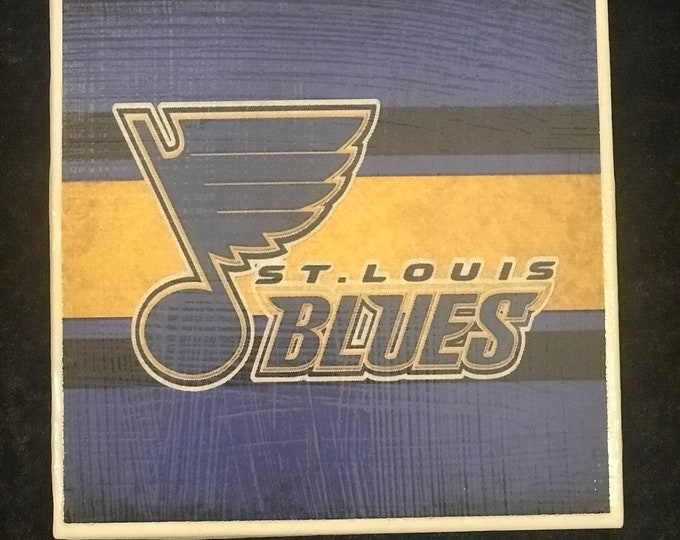 St. Louis Blues Coaster / Ceramic Drink Coaster/ Beer Mat/ Bar Accessories
