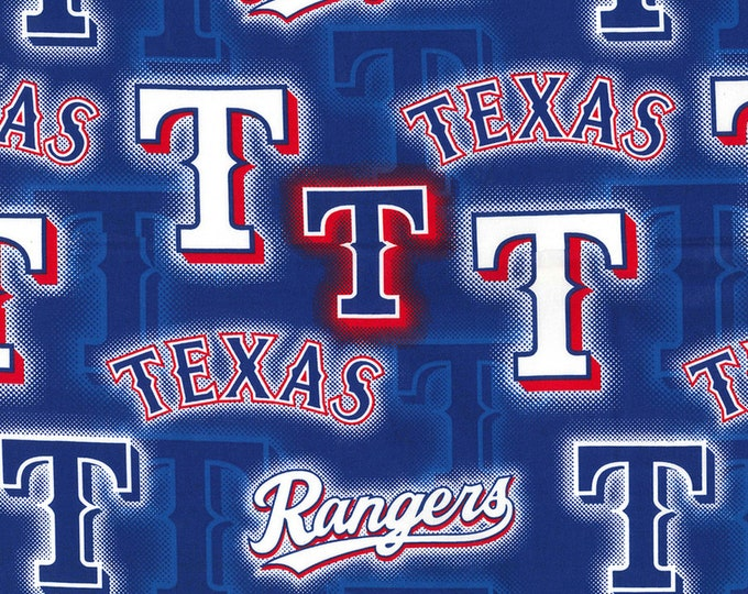 Texas Rangers DOT Fabric Baseball MLB -100% Cotton-By Fabric Traditions-Quilts-Home Decor-Licensed Fabric