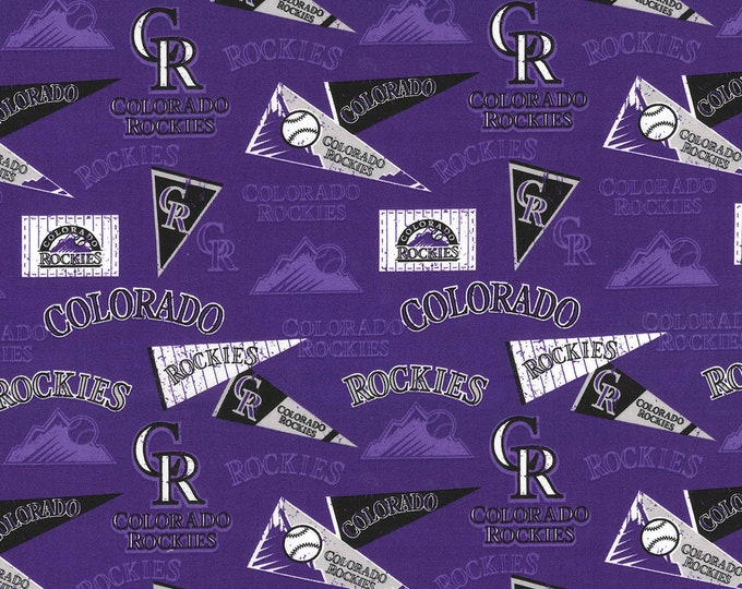 Colorado Rockies Retro Fabric Baseball MLB -100% Cotton-By Fabric Traditions-Quilts-Home Decor-Licensed Fabric