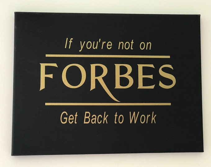 Forbes Quote Wall Art Canvas Print, Inspirational, Motivational Office Decor, Home Decor