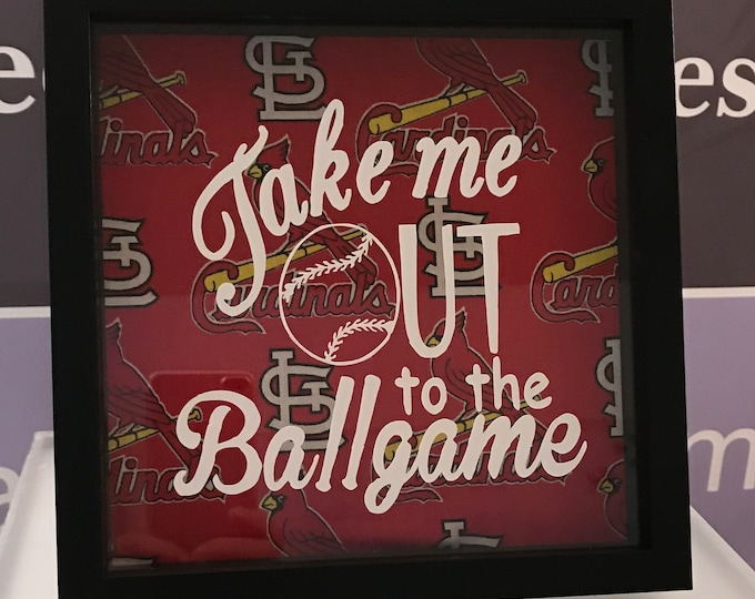 Shadow Box frame, Memory Box, St. Louis Cardinals, Home Decor, Office Decor, Photo Frame Box