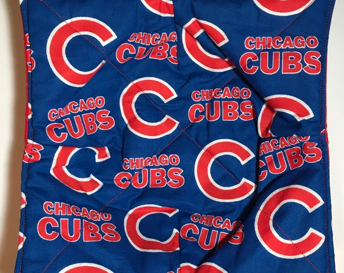 Microwave Bowl Cozy, Chicago Cubs MLB, hot pad, Quilted, reversible, pot holder, soup bowl, plate cozy
