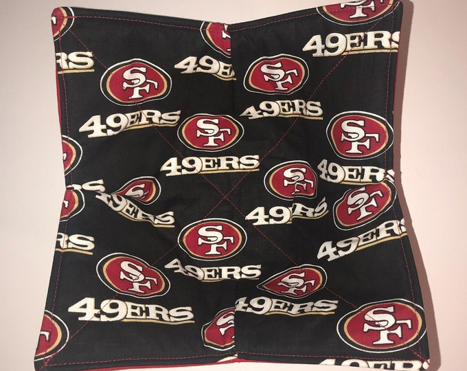 San Francisco 49'ers  NFL microwave bowl cozy, Quilted, pot holder, soup bowl, plate cozy