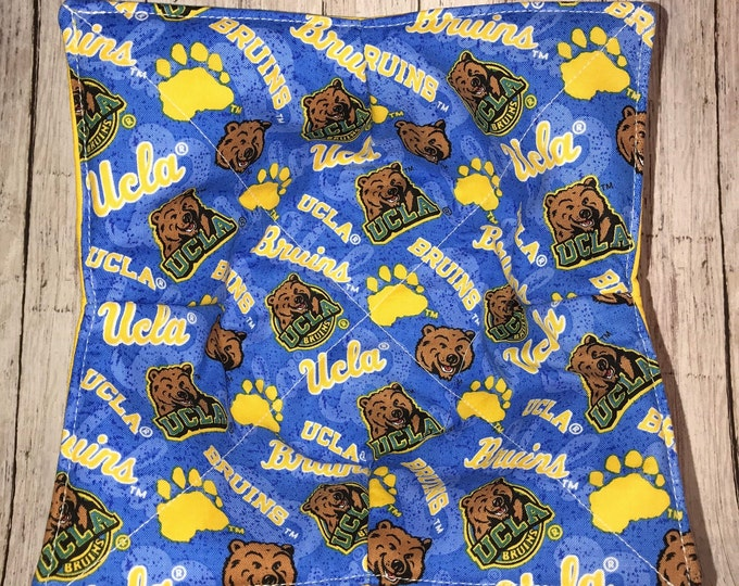 Microwave Bowl Cozy, UCLA Bruins, hot pad, Quilted, pot holder, Soup Bowl, Ice Cream Bowl, Plate Cozy