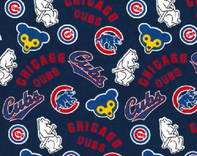 Chicago Cubs Cooperstown Fabric Baseball MLB -100% Cotton-By Fabric Traditions-Quilts-Home Decor-Licensed Fabric