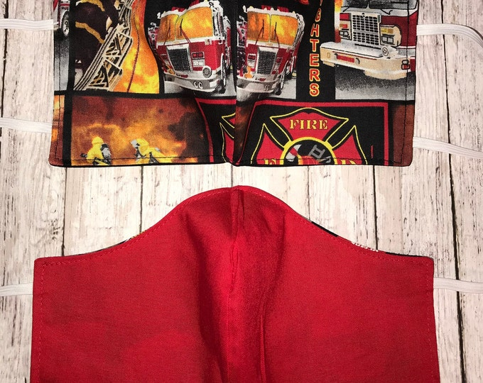 Cloth Face Mask First Responders, EMS, Nurse RN, Police, Fire Fighters, Washable Reusable Dust Mask, Pollen Mask, Face Covering