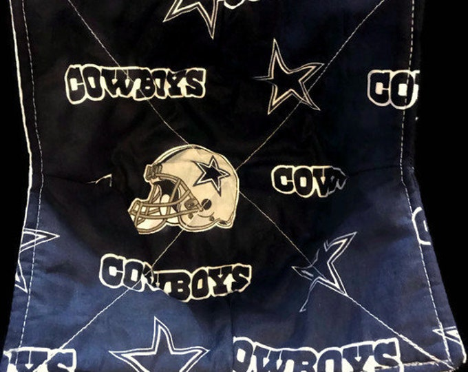 Microwave Bowl Cozy, Dallas Cowboys, hot pad, Quilted, reversible, pot holder, Soup Bowl, Ice Cream Bowl, Plate Cozy