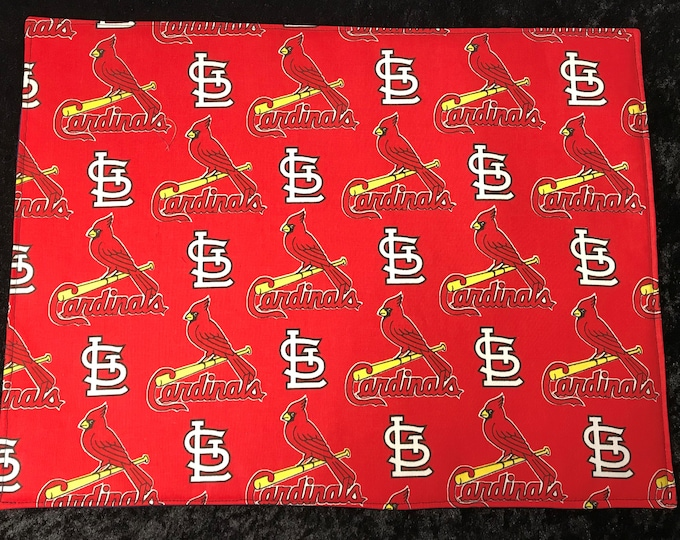 Placemats, set of 4, St. Louis Cardinals, Table Setting, Table Linens, Sports Fan, Gift for Him