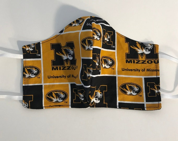 Cloth Face Mask, Mizzou, LSU, Bama, Cyclones, Ole Miss, Missouri State, Hoosiers, Spartans, College Sports Fan