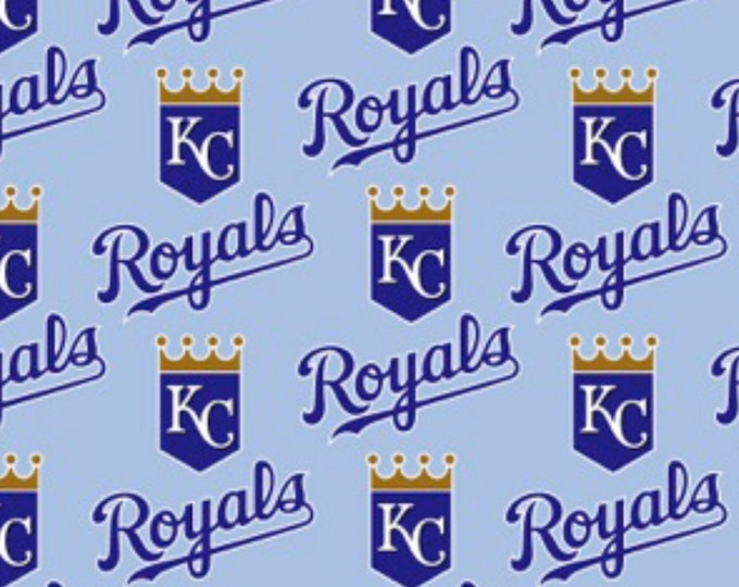 Kansas City Royals Fabric Baseball MLB -100% Cotton-By Fabric Traditions-Quilts-Home Decor-Licensed Fabric