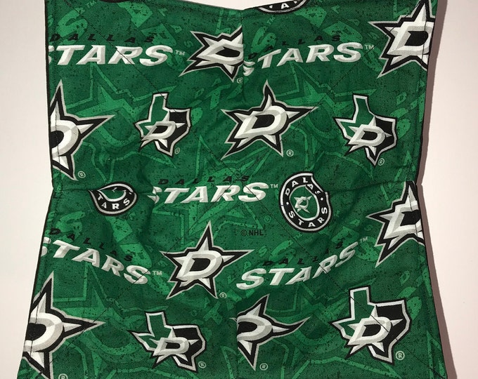 Microwave Bowl Cozy, Dallas Stars, Blue Note, NHL, hot pad, Quilted, pot holder, Soup Bowl, Ice Cream Bowl, Plate Cozy