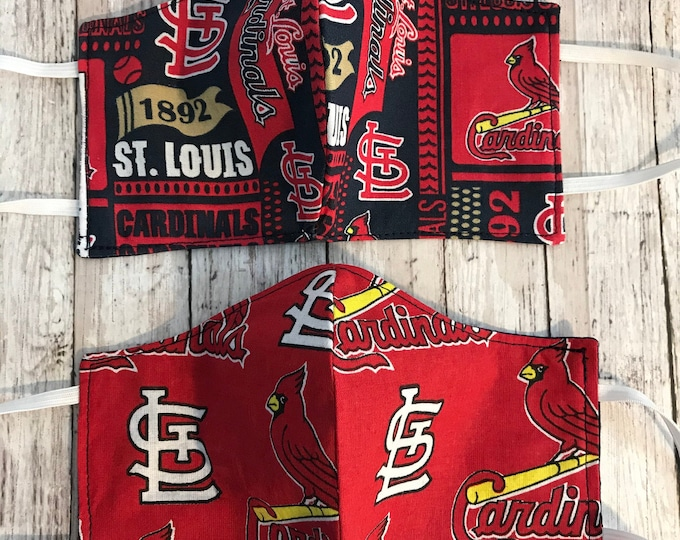 Cloth Face Mask, St. Louis Cardinals MLB, Reusable Face Cover, Quilting Cotton, Sports Fan