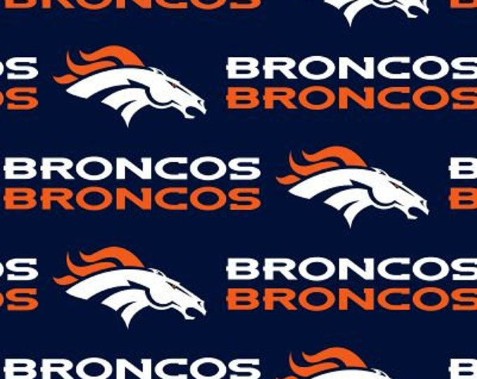 Denver Broncos Fabric Football NFL -100% Cotton-By Fabric Traditions-Quilts-Home Decor-Licensed Fabric