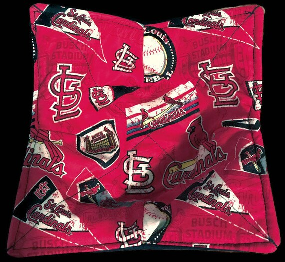 Bowl cozy microwavable, St. Louis Cardinals Pennant, hot pad, Quilted, reversible, pot holder, cozie or trivet.