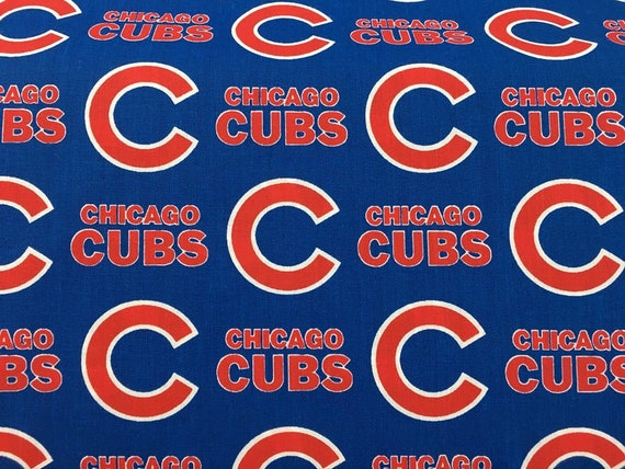 Chicago Cubs Fabric Baseball MLB -100% Cotton-By Fabric Traditions-Quilts-Home Decor-Licensed Fabric