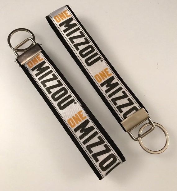 Key Fob Wristlet Fabric University of Missouri, Mizzou Tigers