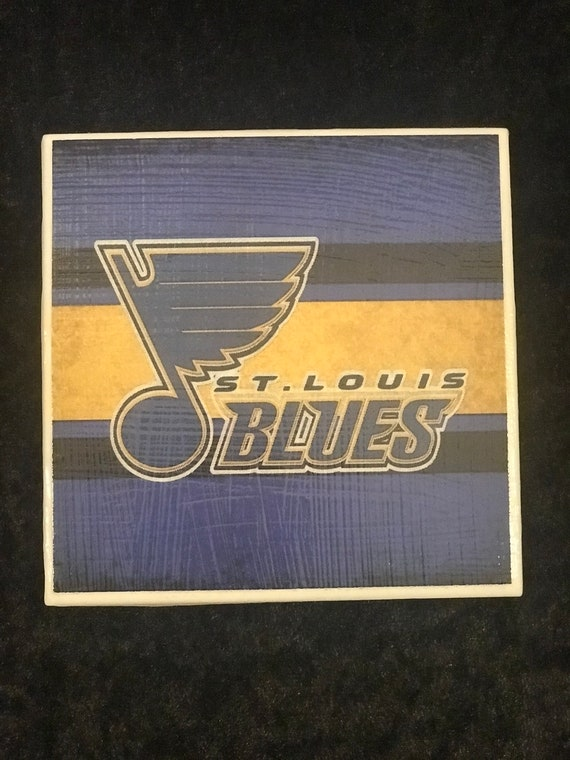 St. Louis Blues Coaster / Ceramic Drink Coaster/ Beer Mat/ Bar Accessories