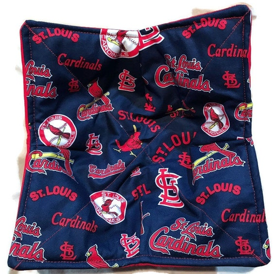 Bowl cozy microwavable, St. Louis Cardinal Blue, hot pad, Quilted, reversible, pot holder, cozie or trivet.