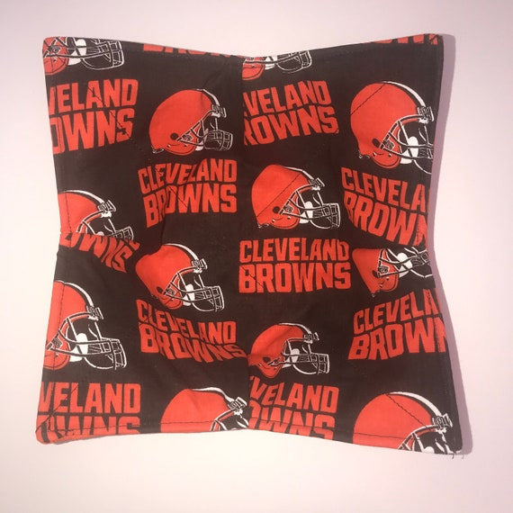 Cleveland Browns NFL Football microwavable bowl cozy, Quilted, pot holder, Hot Pad, Soup Bowl, Ice Cream Bowl, Plate Cozy