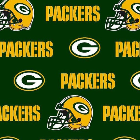 Green Bay Packers NFL Football -100% Cotton-By Fabric Traditions-Quilts-Home Decor-Licensed Fabric