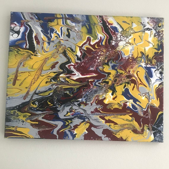 Acrylic Pour Painting Abstract Art by abstract expressionist Eugene Ray