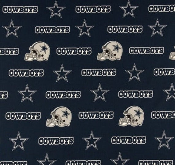 Dallas Cowboys NFL Football -100% Cotton-By Fabric Traditions-Quilts-Home Decor-Licensed Fabric