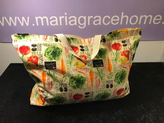 Farmers Market Tote, Eco Friendly Bag, Re-Usable Grocery Bag, Reusable Produce Bag, Tote Bag, 100% Cotton Tote