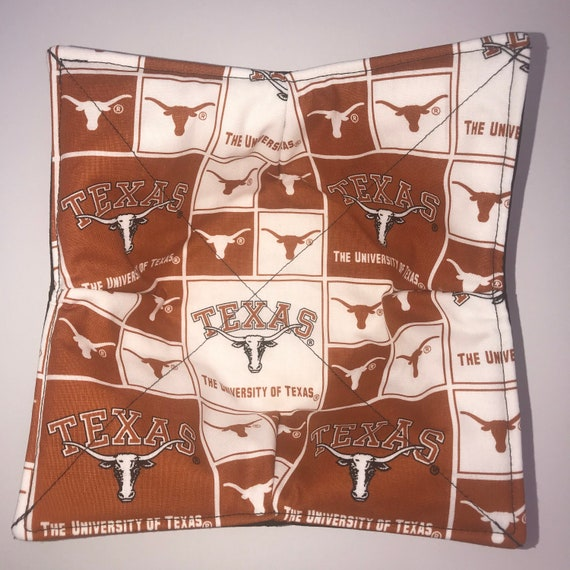Microwavable bowl cozy, University of Texas, Texas Longhorns Quilted, pot holder, soup bowl, plate cozy