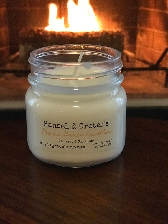 Hansel and Gretal's Scented Soy Coconut Blend Candle | Baked Goods | Home Decor | Holiday Gift | Aromatherapy | Vegan | Gingerbread House