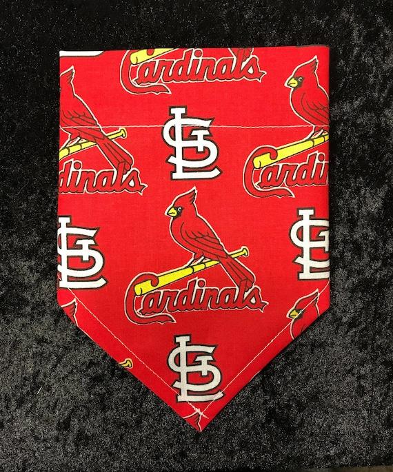 Dog Bandana- Pet Bandana - No Tie Slip over Collar Bandana- Cat Bandana- Pet Accessories- St. Louis Cardinals