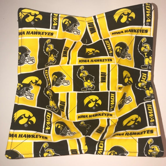 Microwavable bowl cozy, University of Iowa, Iowa Hawkeyes, Quilted, pot holder, cozy or trivet.