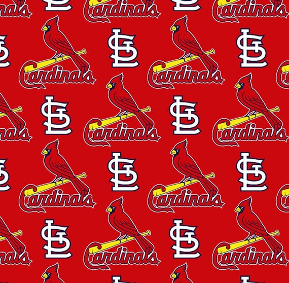 St Louis Cardinals Fabric Baseball MLB -100% Cotton-By Fabric Traditions-Quilts-Home Decor-Licensed Fabric