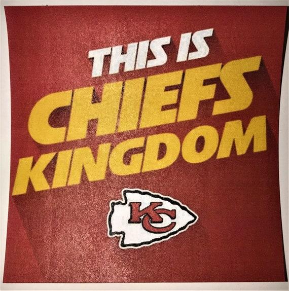 Kansas City Chiefs Coaster\ NFL\ Art\Trivet\Football Fan Gift