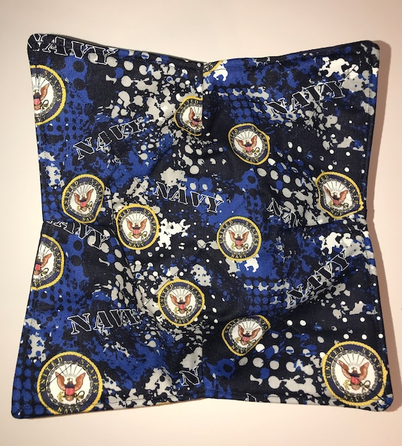Microwavable bowl cozy, US Navy, Quilted, pot holder, soup bowl, plate cozy