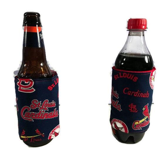 Insulated bottle cozy, St. Louis Cardinals blue  koozie, bottle huggers, cozie