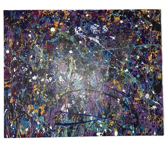 Jackson Pollock style drip art Abstract  painting wall art Original artwork acrylic painting