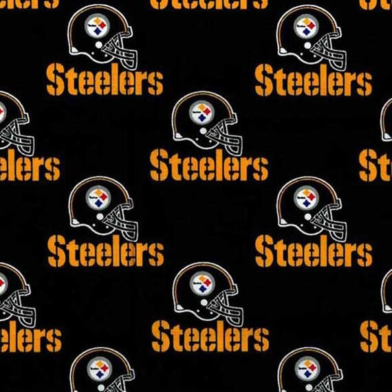 Pittsburg Steelers NFL Football -100% Cotton-By Fabric Traditions-Quilts-Home Decor-Licensed Fabric