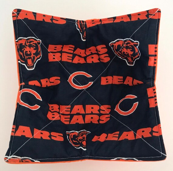 Chicago Bears NFL microwavable bowl cozy, Quilted, pot holder, cozie, hot pad or trivet.