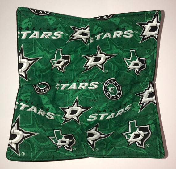 Bowl cozy microwavable, Dallas Stars, Blue Note, NHL, hot pad, Quilted, pot holder, cozie or trivet.
